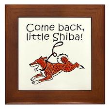 Come Back, Little Shiba Framed Tile