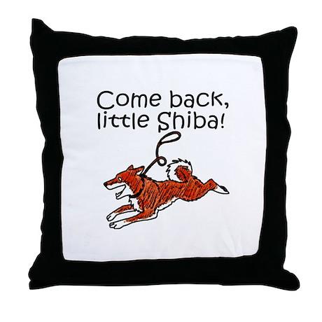 Come Back, Little Shiba Throw Pillow