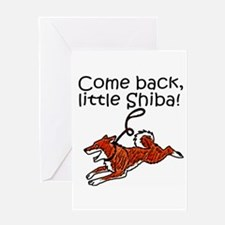 Come Back, Little Shiba Greeting Card
