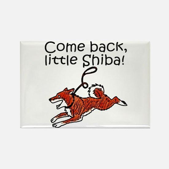 Come Back, Little Shiba Rectangle Magnet