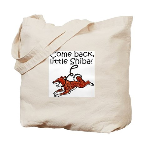 Come Back, Little Shiba Tote Bag