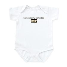 Barney is my homedog Infant Bodysuit