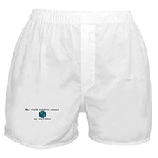 World Revolves Around Pebbles Boxer Shorts
