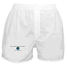 World Revolves Around Pearl Boxer Shorts