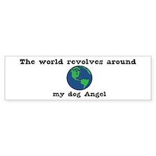 World Revolves Around Angel Bumper Bumper Sticker