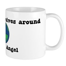 World Revolves Around Angel Mug