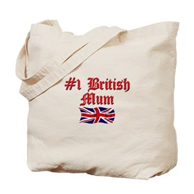 #1 British Mum Tote Bag