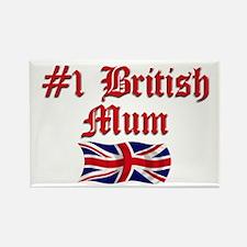 #1 British Mum Rectangle Magnet