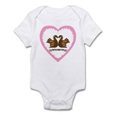 Cute Valentine squirrels Infant Bodysuit