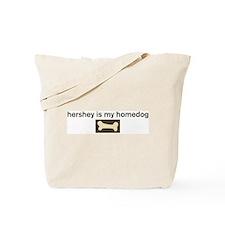 Hershey is my homedog Tote Bag