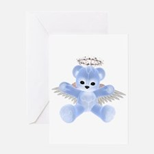 BLUE ANGEL BEAR Greeting Card