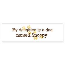 Daughter named Snoopy Bumper Bumper Sticker