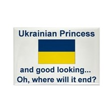 Good Lkg Ukrainian Princess Rectangle Magnet