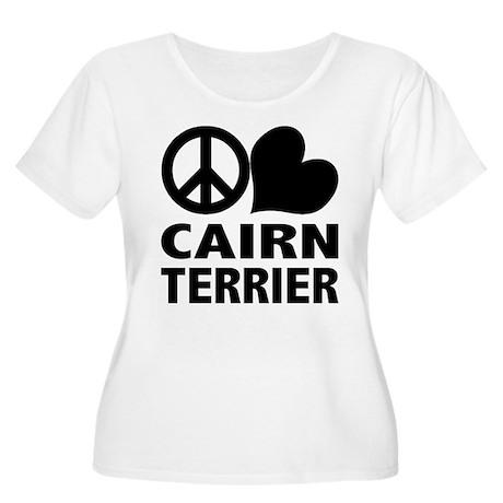 Peace Love Cairn Terrier Women's Plus Size Scoop N