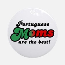 Portuguese Mom Ornament (Round)