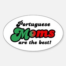 Portuguese Mom Oval Decal