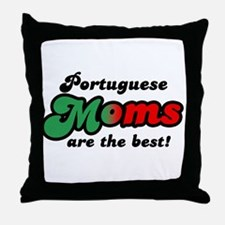 Portuguese Mom Throw Pillow
