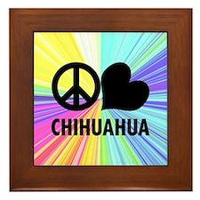 Peace Love Chihuahua Framed Tile