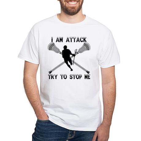 Lacrosse Attackman White T-Shirt