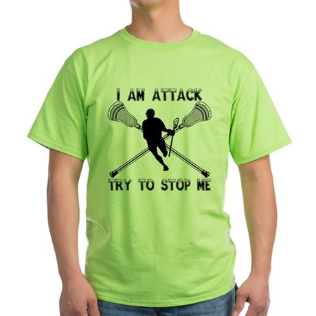 Lacrosse Attackman Green T-Shirt