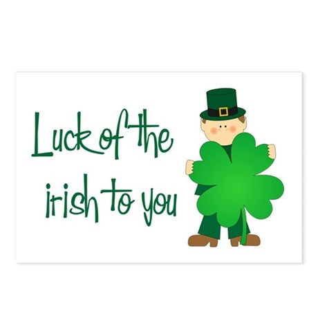 Luck of The Irish To You Postcards (Package of 8)