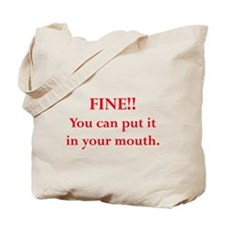 Oral pleasure Tote Bag