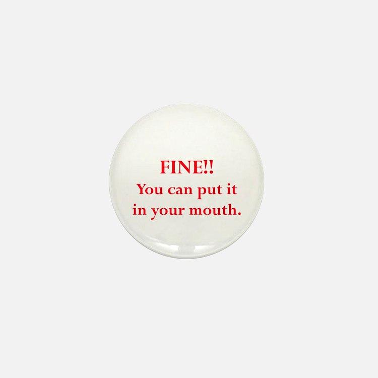 Oral pleasure Mini Button