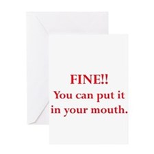 Oral pleasure Greeting Card