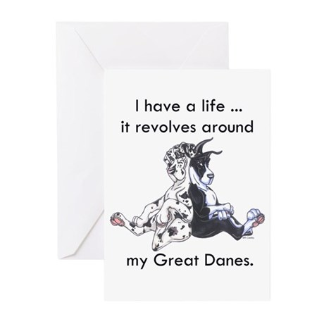 Revolves Great Dane Cards (10p)