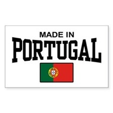 Made In Portugal Rectangle Decal