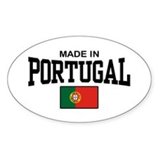 Made In Portugal Oval Decal