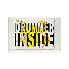 Drummer Inside Rectangle Magnet