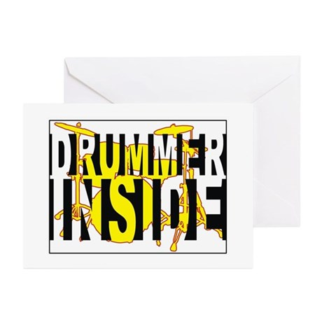 Drummer Inside Greeting Cards (Pk of 20)