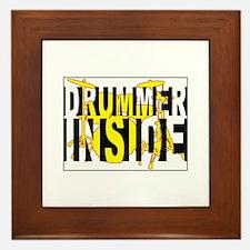 Drummer Inside Framed Tile