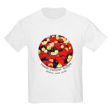 Kids T-Shirt - Red and Yellow Tulips