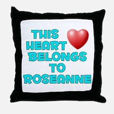 This Heart: Roseanne (E) Throw Pillow