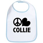 Peace Love Collie Bib