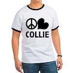 Peace Love Collie Ringer T
