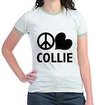 Peace Love Collie Jr. Ringer T-Shirt