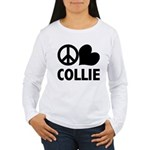Peace Love Collie Women's Long Sleeve T-Shirt