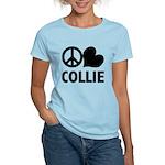 Peace Love Collie Women's Light T-Shirt