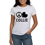 Peace Love Collie Women's T-Shirt