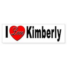 I Love Kimberly Bumper Bumper Sticker