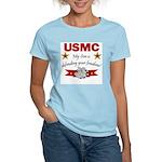 USMC Son defending freedom Women's Pink T-Shirt
