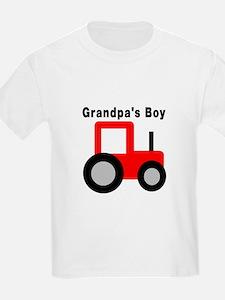 Grandpa's Boy Red Tractor T-Shirt