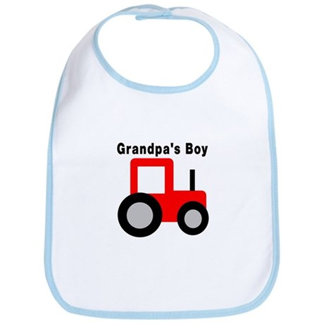 Grandpa's Boy Red Tractor Bib