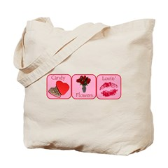 Candy, Flowers, Lovin Tote Bag