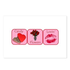 Candy, Flowers, Lovin Postcards (Package of 8)