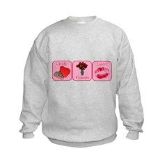 Candy, Flowers, Lovin Sweatshirt