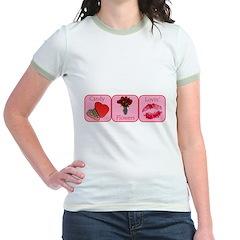 Candy, Flowers, Lovin Jr. Ringer T-Shirt